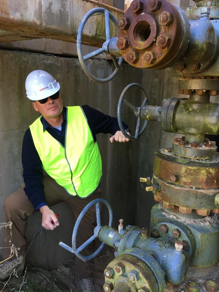 State Gas executive director Greg Baynton near the site.