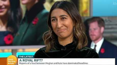 Journalist Radhika Sanghani appeared on Good Morning Britain to defend Meghan Markle. Picture: Twitter