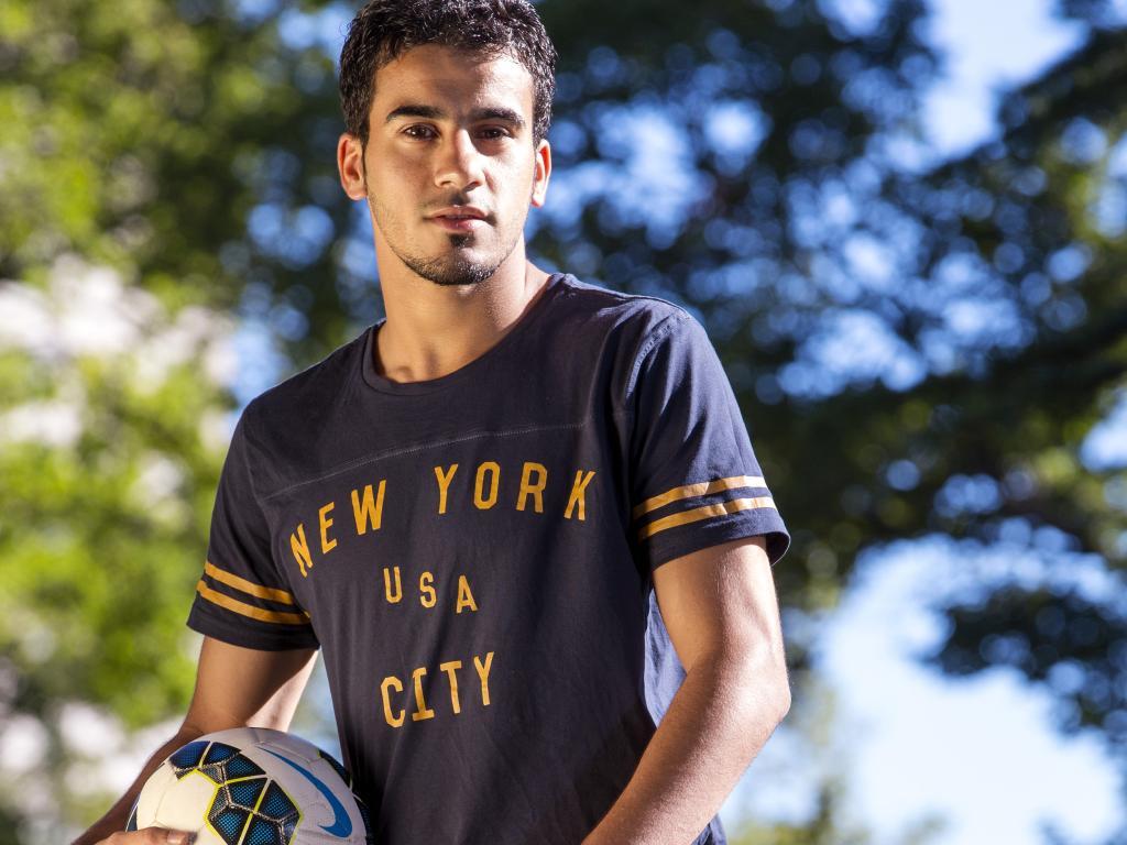 Bahraini footballer Hakeem aloraibi. Picture: Ian Currie