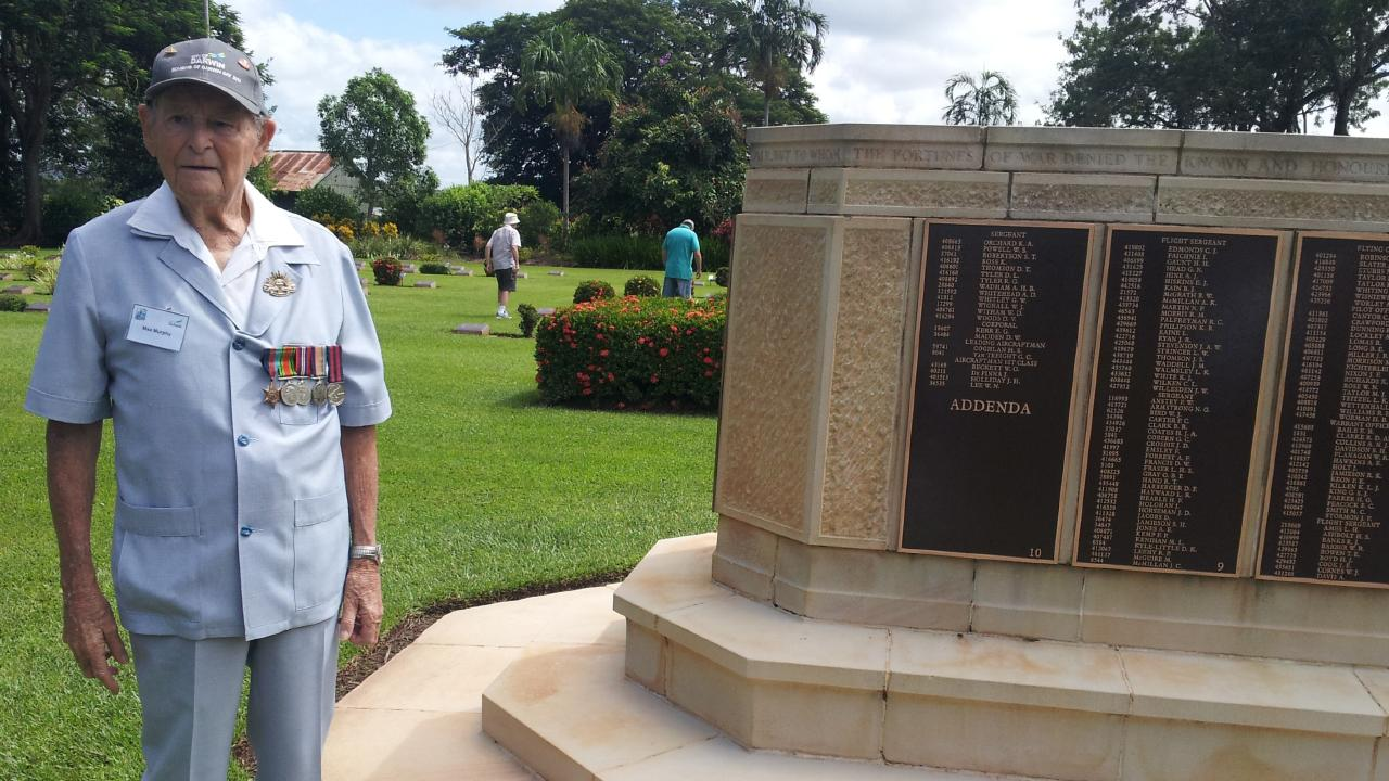 Maxwell Murphy at the Adelaide War Memorial Cemetary in February 2014 — nine months before his death. Picture: Supplied
