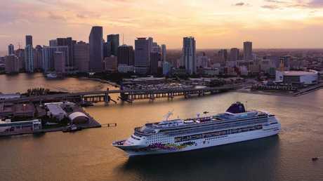 Norwegian Cruise Line's Norwegian Sky in Miami, Florida. Picture: Supplied