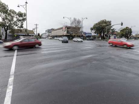 Many drivers were left confused by the markings on the intersection. Picture: Daniel Pockett