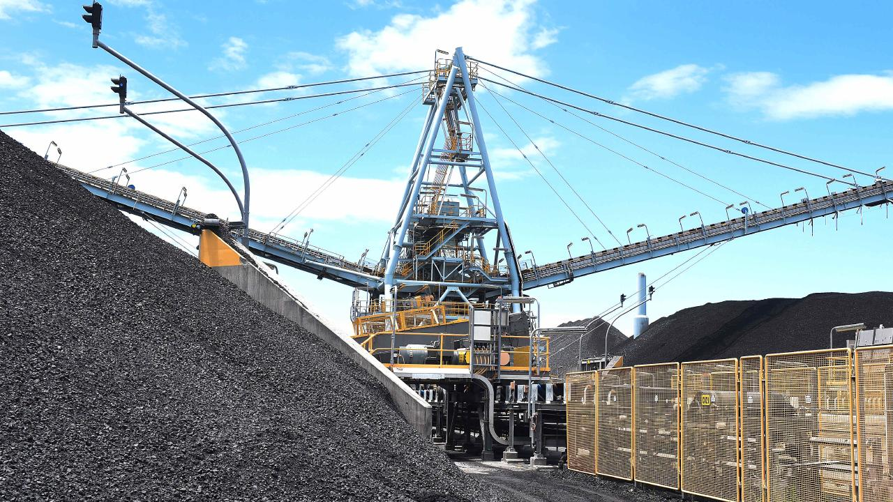 Coal at the Port of Brisbane. Photo: AAP/John Gass
