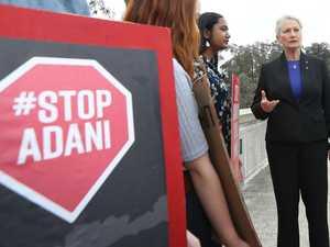 Activists protest Adani at Parliament House