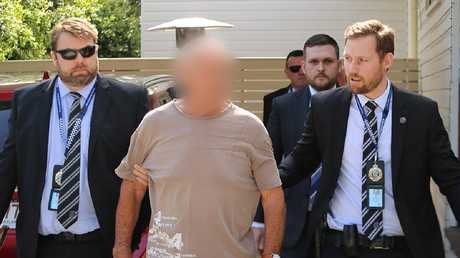 Police released this image of Chris Dawson's arrest. Picture: NSW Police