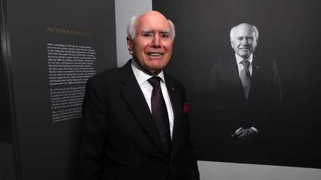 John Howard at the official opening of his library at Old Parliament House yesterday. Picture: Gary Ramage