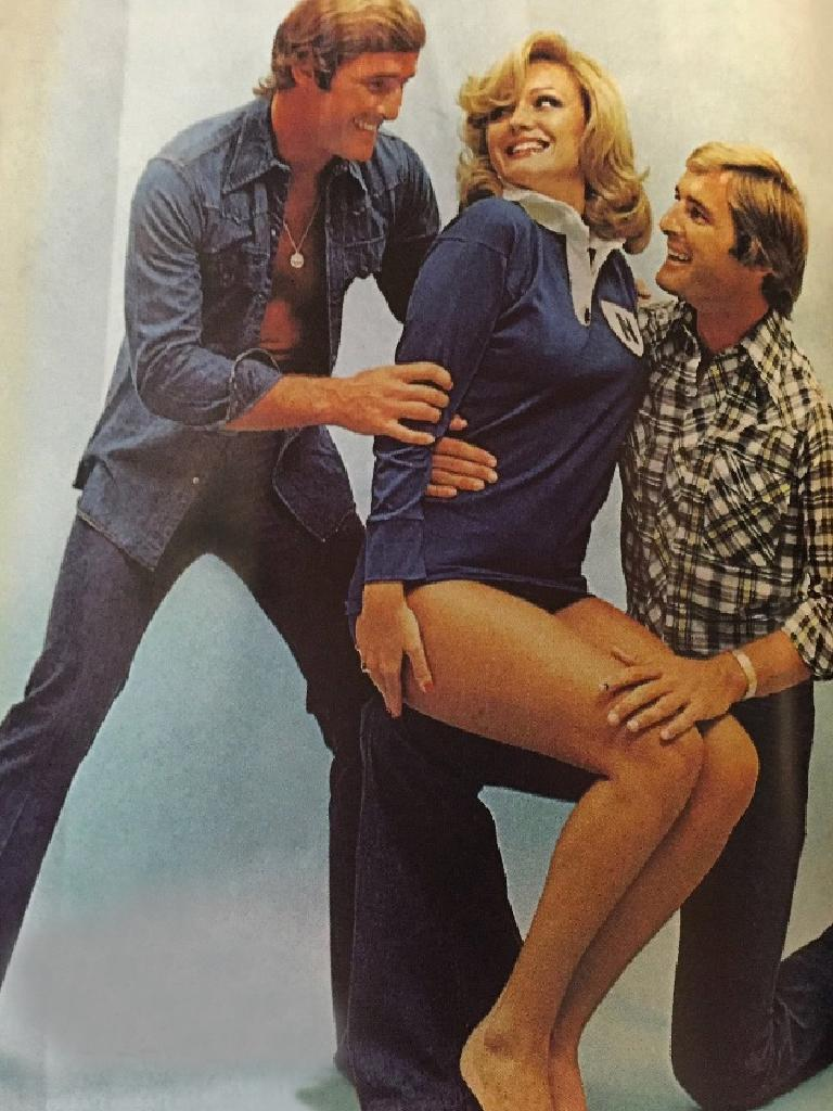 The brothers in an advertisement in the early '80s.
