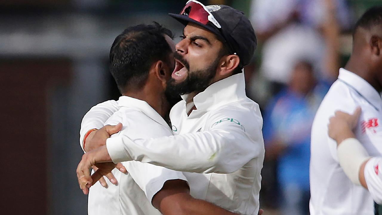 Virat Kohli likes to show his emotions on the field. Pic: AFP