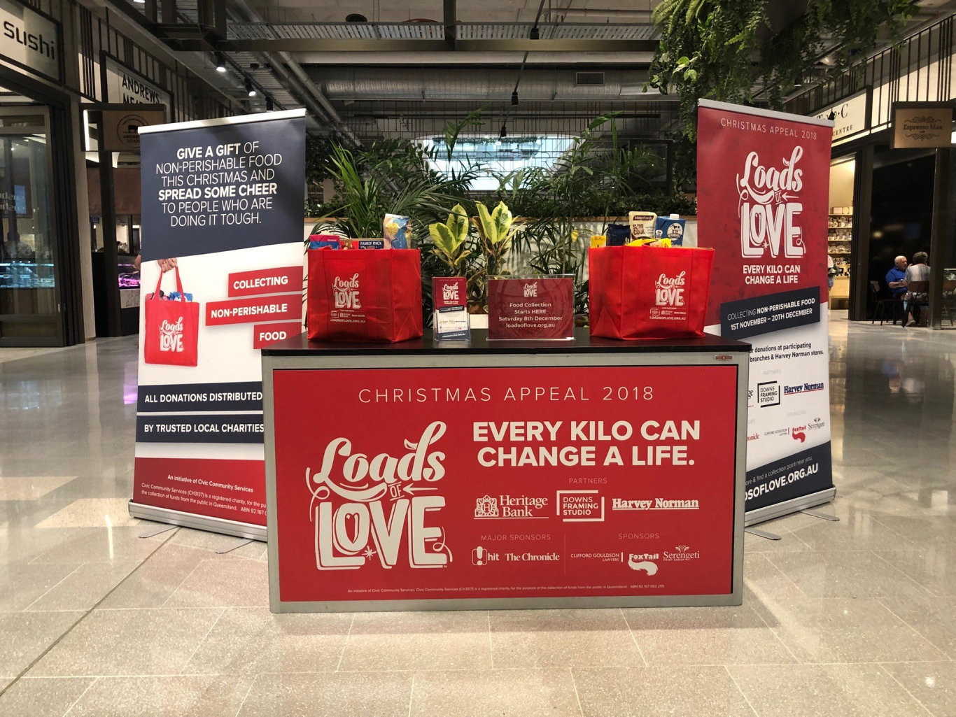 From Saturday, volunteers will be ready to take your donations of non-perishable food for the Loads of Love Appeal.