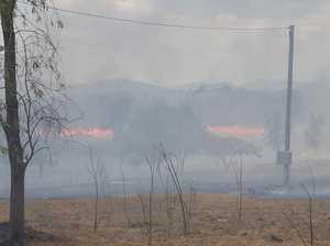 Lawn mower causes blaze