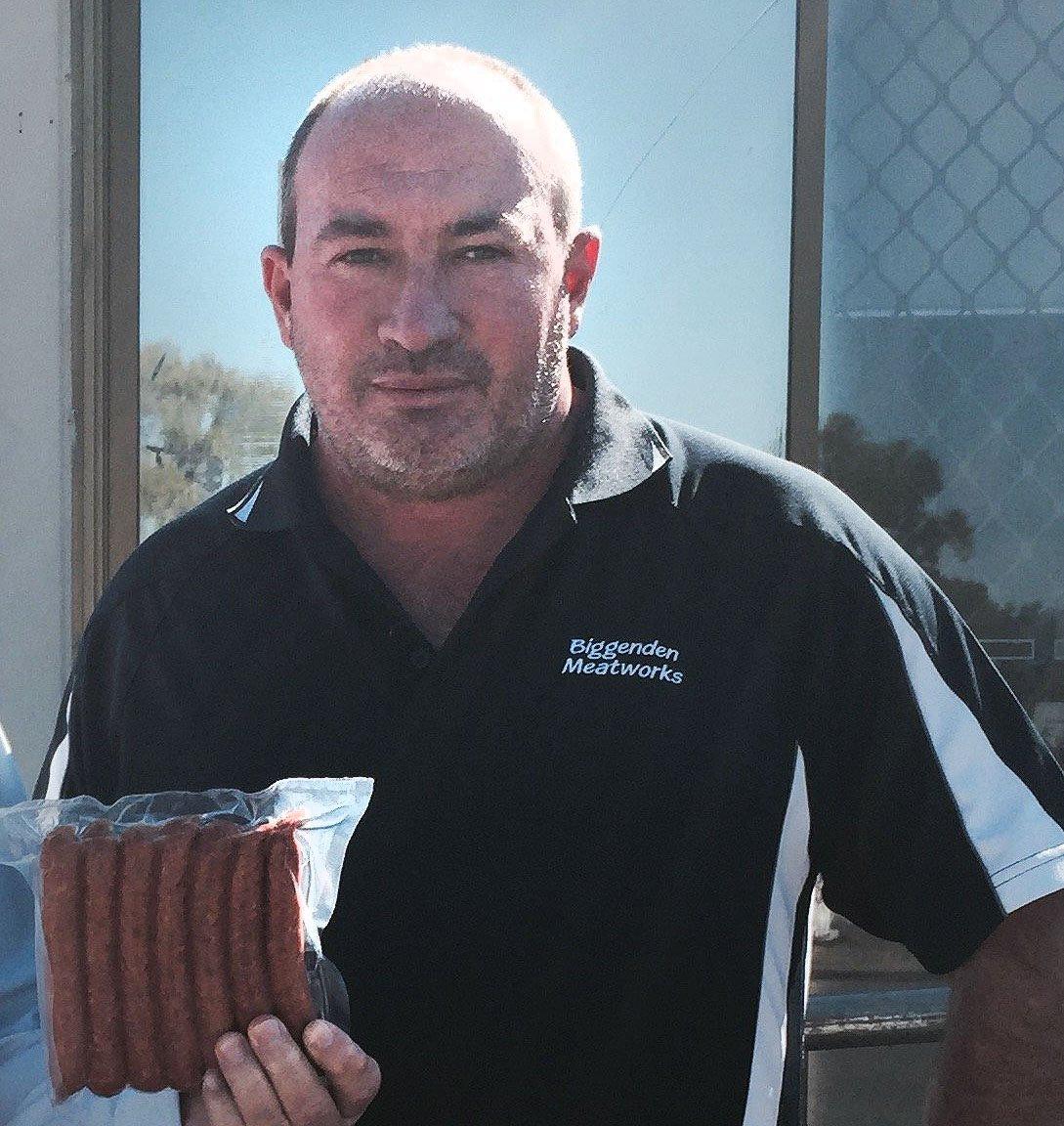 Biggenden Meatworks company director Peter Gibbs.