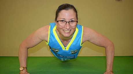 PUMPING IRON: National bench press record breaker Fiona Flanders.