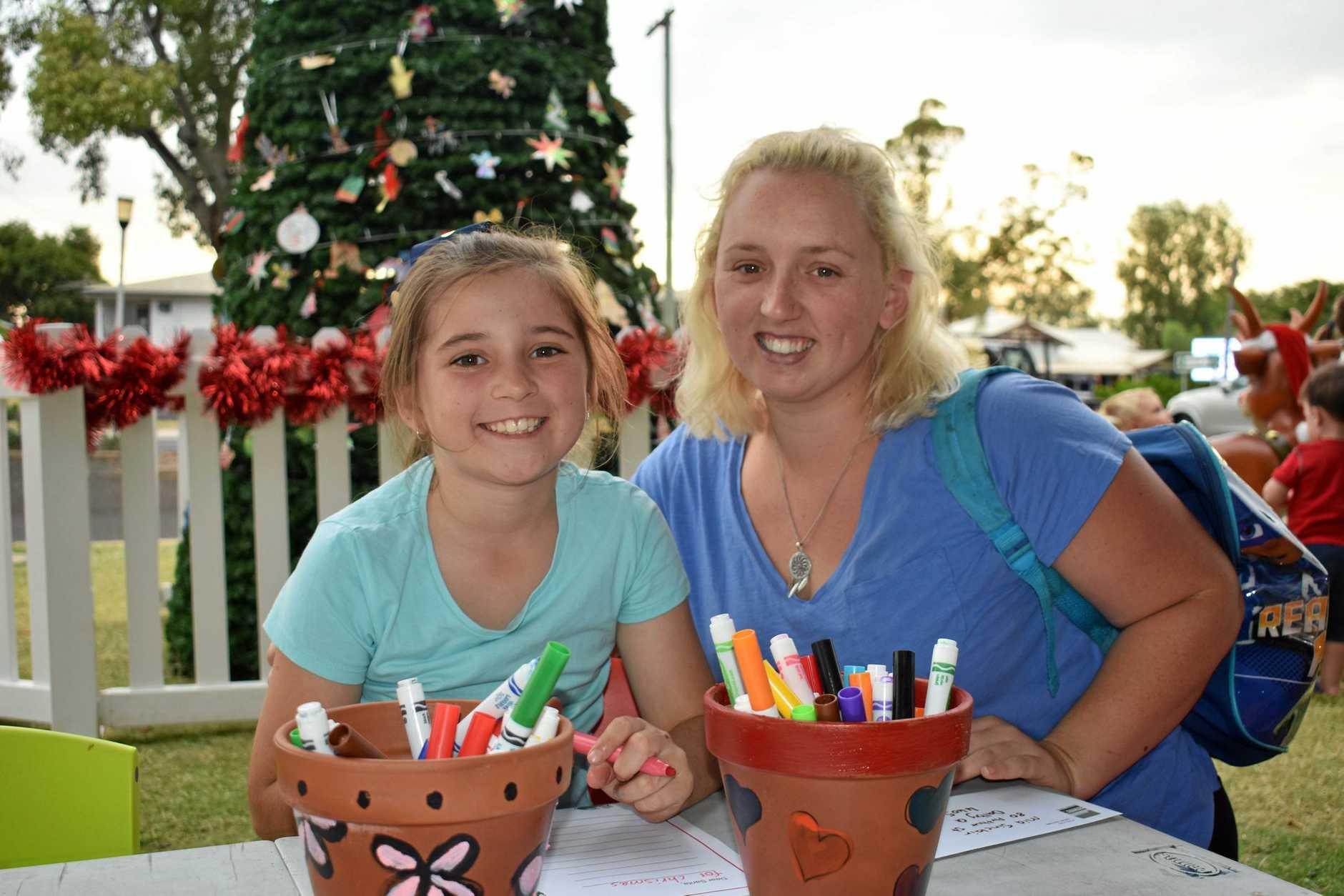 JINGLE BELLS: Mia Sinclair and Kaitlin Rix
