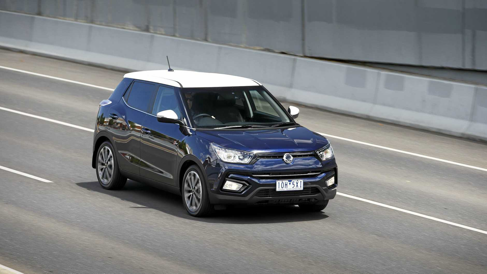 The star of the relaunched SsangYong range is the Tivoli compact SUV, which starts from $23,490 drive away. The range-topping two tone version is $34,490.