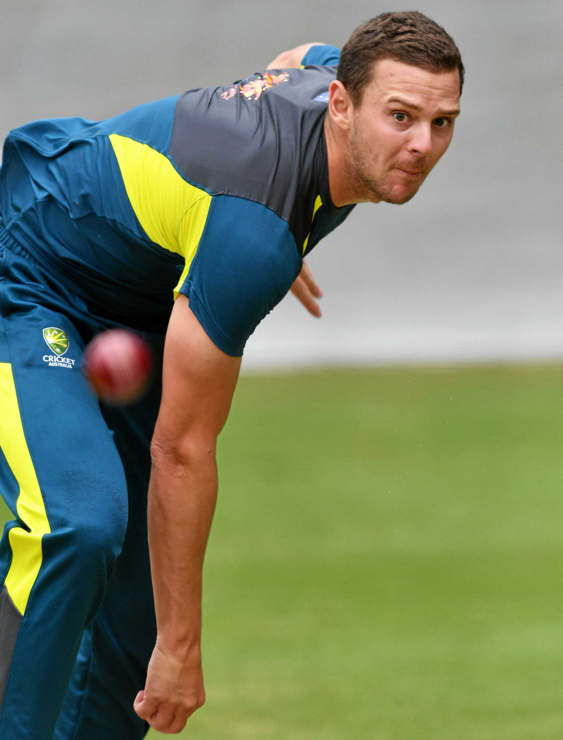 Josh Hazlewood of Australia is seen during a training session at the Adelaide Oval in Adelaide, Tuesday, December 4, 2018. Australia play India in the first test starting this Thursday. (AAP Image/David Mariuz) NO ARCHIVING, EDITORIAL USE ONLY