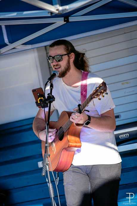 LOCAL TALENT: Benjamin Lanzon has been entertaining around Gladstone for three years.