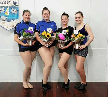 DANCE SHOWCASE: Student teachers (L-R) Anna Keirsnowki, Cheyenne Roebuck, Lisa Bazuin and Jayde Hopf will be performing at the Amber Wieland Dance School Showcase at the GECC on Sunday.