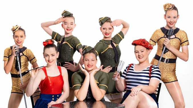 PRIMED TO SHINE: Jannali Laing, Layne Schroeder, Lisa Bazuin and Lauren Porteous (rear) and Jayde Hopf, Anna Keirsnowski and Cheyenne Roebuck will be performing at the Amber Wieland Dance School Showcase at the GECC on Sunday.