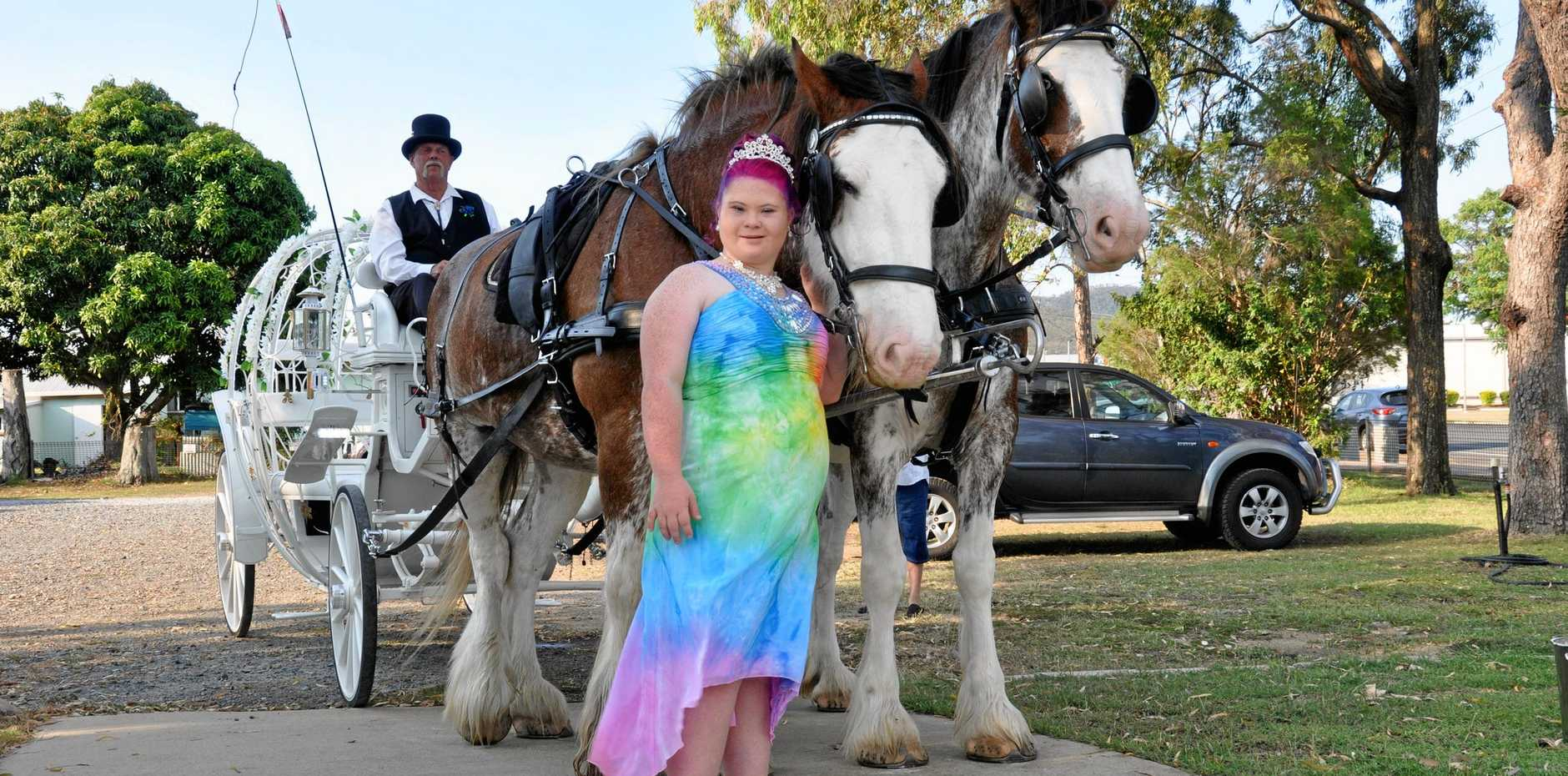 Keely-Anne Hinze at the Rockhampton North Special School senior formal on the 16th of November.