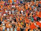 Roar fans are seen during the round 2 A-League match between the Brisbane Roar and the Wellington Phoenix played at Suncorp Stadium in Brisbane, Sunday, October 28, 2018. (AAP Image/Darren England) NO ARCHIVING, EDITORIAL USE ONLY.