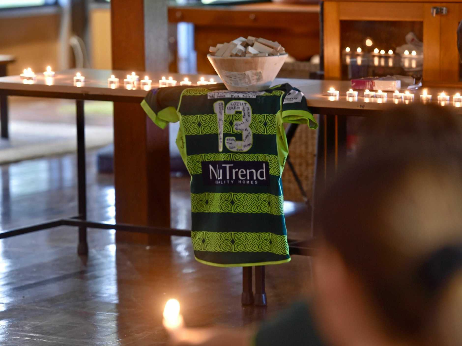 Friends, teammates and opponents held a candlelight vigil for Jacob Mabb at the USC Rugby Club on Wednesday night.