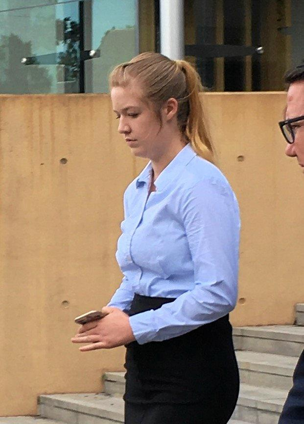 ONGOING IMPACT: Kaitlyn Hawes leaves court after receiving a suspended sentence for dangerous operation of a motor vehicle causing death and grievous bodily harm.