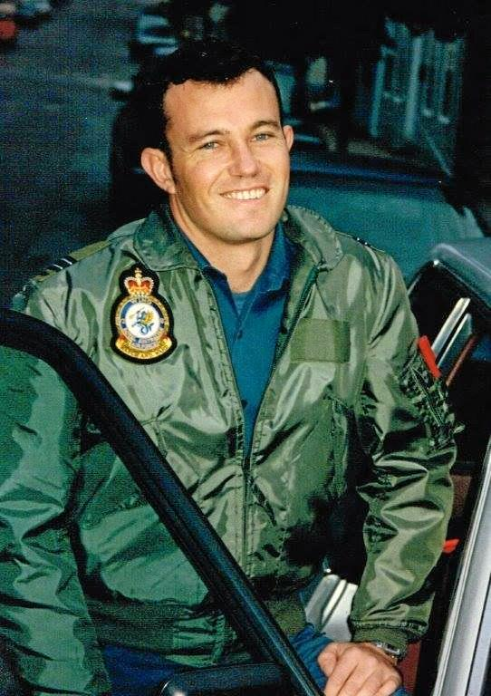 MEMORIES: Byron Bay resident Damien O'Donoghue in an image from his time at the RAAF.