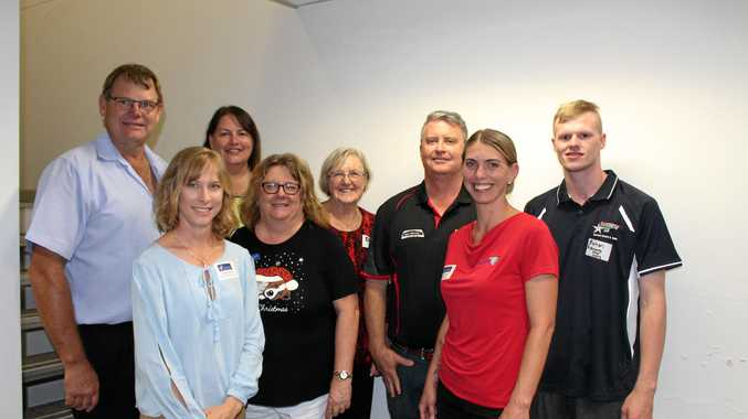 BAH host Bruce White from White Property Group with Dalby CCI board members Susan Jacobs, Tania Marshall, Jenny MacNellie, Beth Wood, Rohan May, Sarah Peterson and Rohan Stephenson.