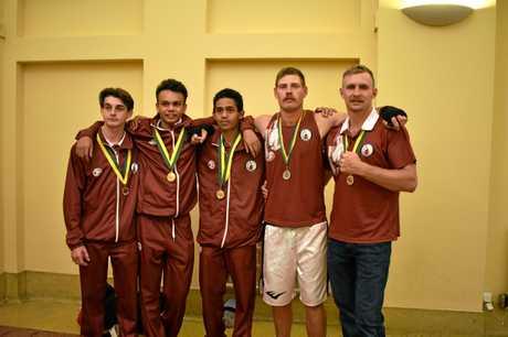 (L-R) Blake Hughes, Sidney Booth, Drayden Marou, Michael Lynch, Lachlan Hinchliffe.