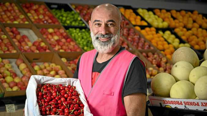 Sam Ghoussain, manager of hfresh.com.au, which is one of the new stores to open at Redbank Plaza.