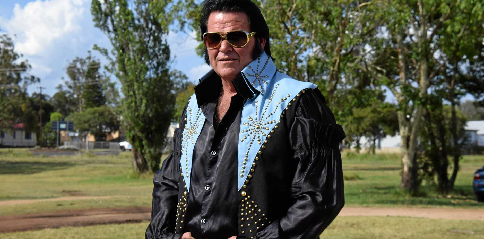 LOVE ME TENDER: Kingaroy resident, Jeff Hancox will be attending next year's Parkes Elvis tribute competition.