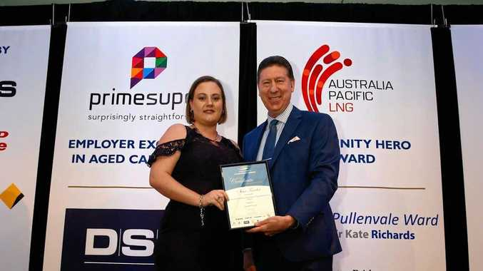 RECOGNITION: Samantha Cowie at the 2018 Queensland Community Achievement Awards Gala Presentation held last Friday  in Brisbane.