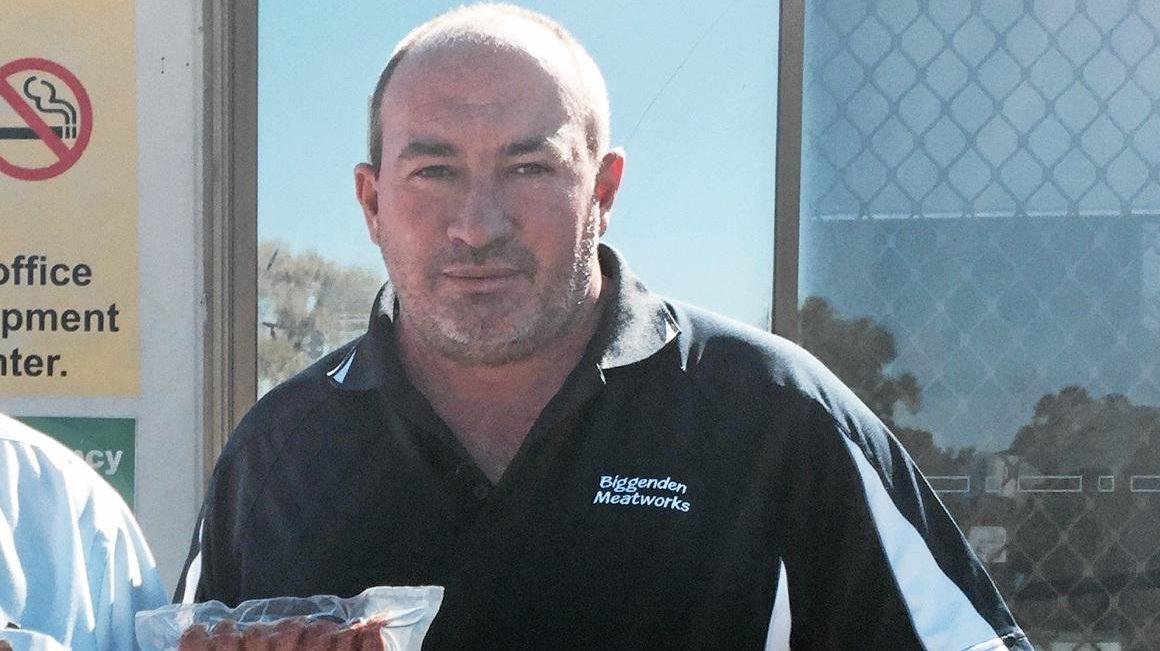 Peter Gibbs at Biggenden Meatworks.