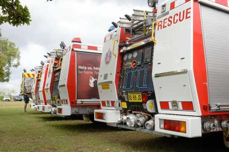THANKFUL FAREWELL: 30 fire trucks are on their way back down to NSW.