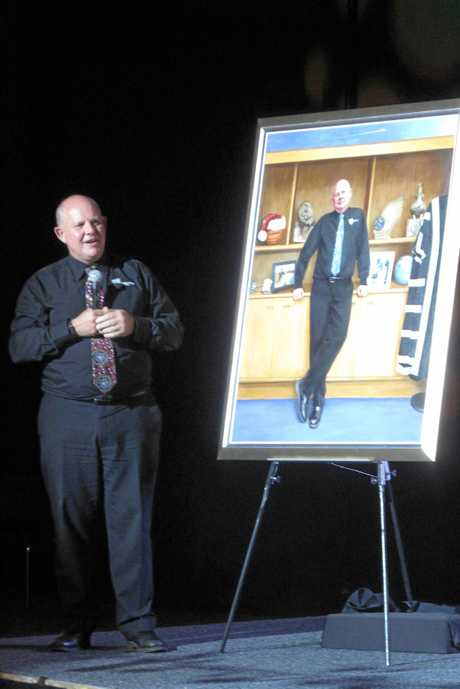 Prof Scott Bowman's portrait was unveiled during his final week.