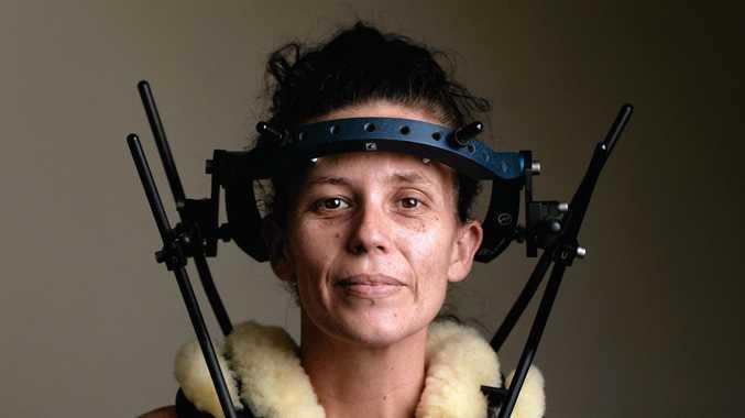Sheree Williamson broke her neck in a car crash near Grafton last month.