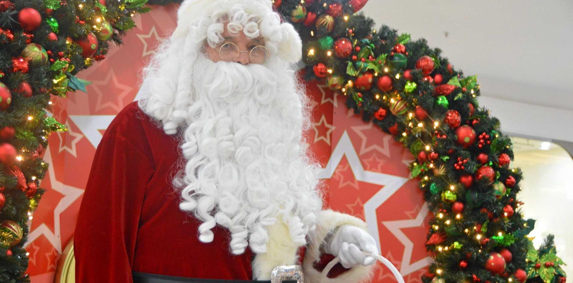 SPREADING THE JOY: The Santa at Kingaroy Shoppingworld loves to keep the spirit of the season alive.