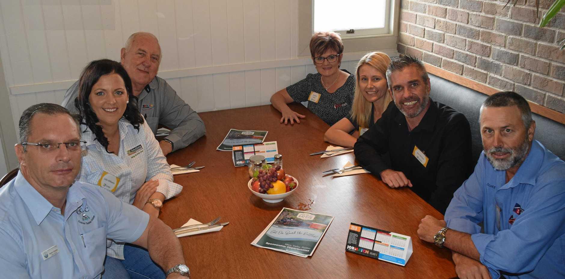 Gympie Chamber of Commerce board members (clockwise from left) Justin Lippiatt, Julie Williams, Garry Davison, Sharlene Makin, Sharon Hansen, Ben Riches and Scott Sutton.