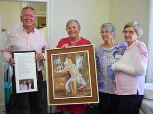 Donated painting a piece of two special Warwick doctors