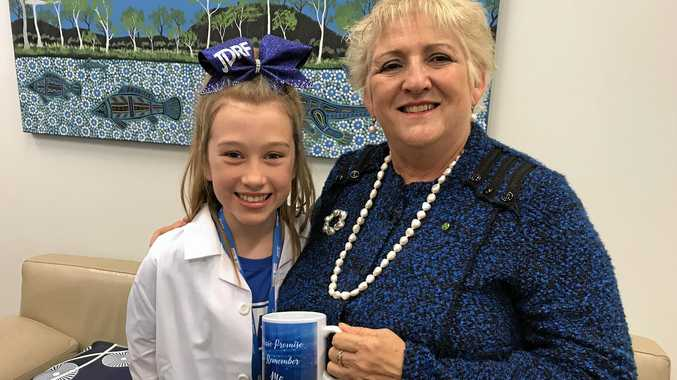 MORE FUNDING: Capricornia MP Michelle Landry said her government will provide more funding to help Type 1 diabetic and advocate Chelsea Line.