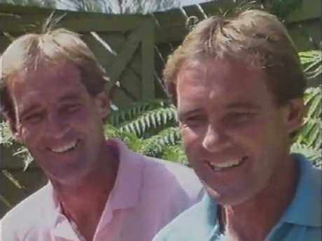 Paul (left) is Chris' twin brother.