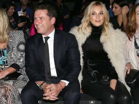 Jasmine Yarbrough, right, keeps an eye on her soon-to-be husband. Picture: Jonathan Ng
