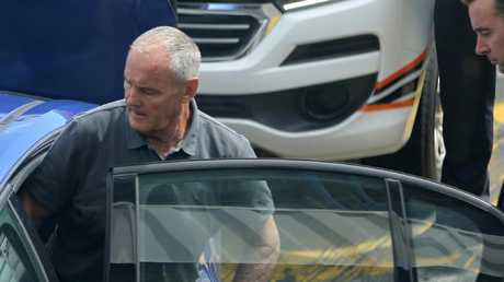Chris Dawson arrived in Sydney this morning after being extradited. Picture: John Grainger