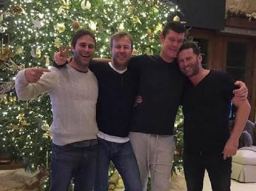 Karl Stefanovic and James Packer have been pals for years. Picture: Instagram