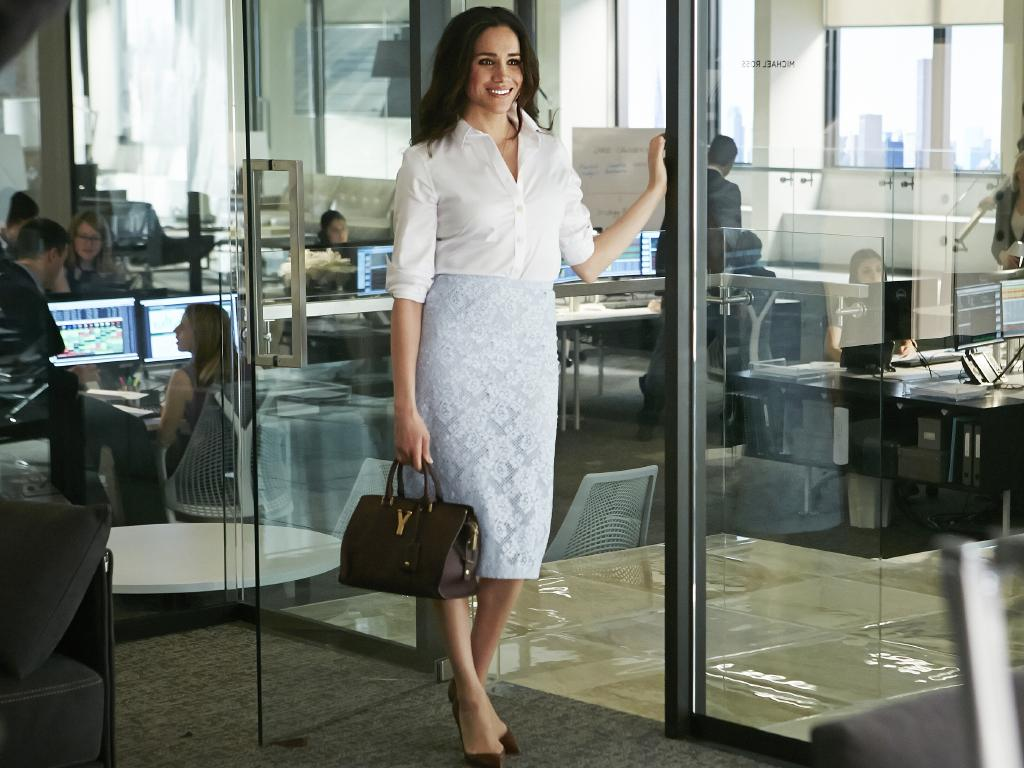 Meghan Markle as Rachel Zane. Picture: Ian Watson/USA Network/NBCU Photo Bank via Getty Images
