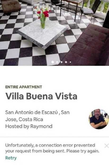 The Airbnb where Carla Stefaniak was staying. Picture: Facebook