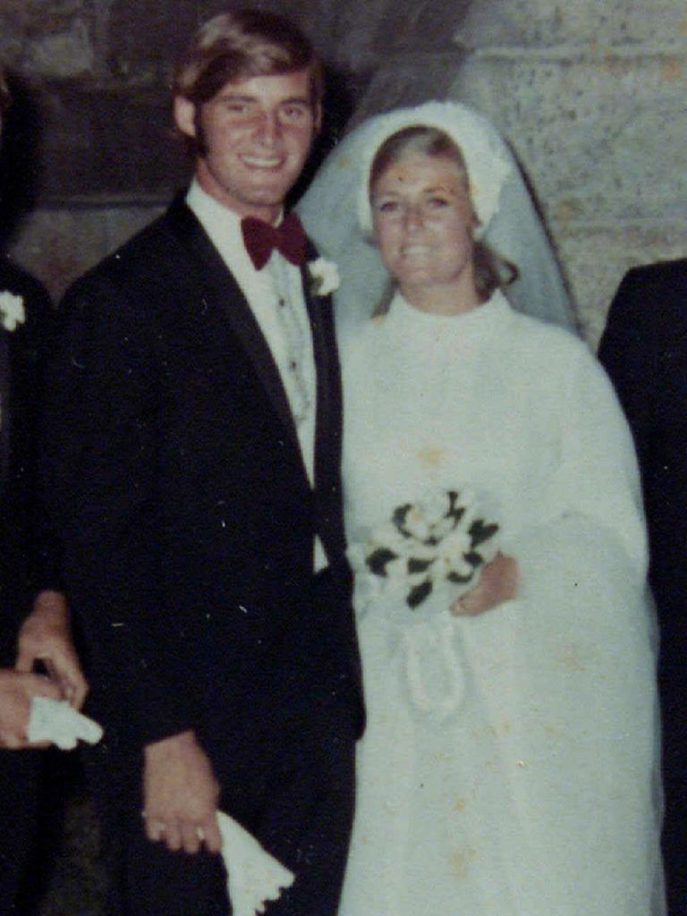 Chris and Lyn Dawson on their wedding day.