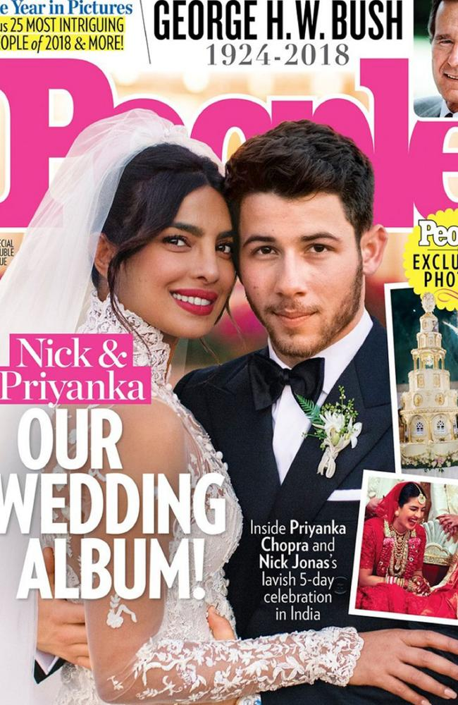 The couple's wedding features in People Magazine. Picture: People