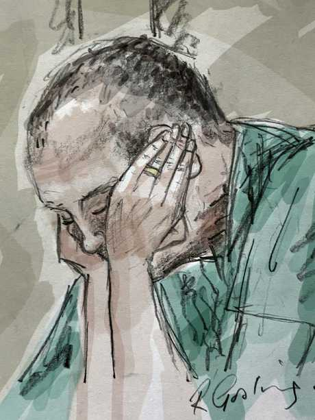 Chris Dawson, 70, in Southport Courthouse on Wednesday. Sketch: Richard Gosling