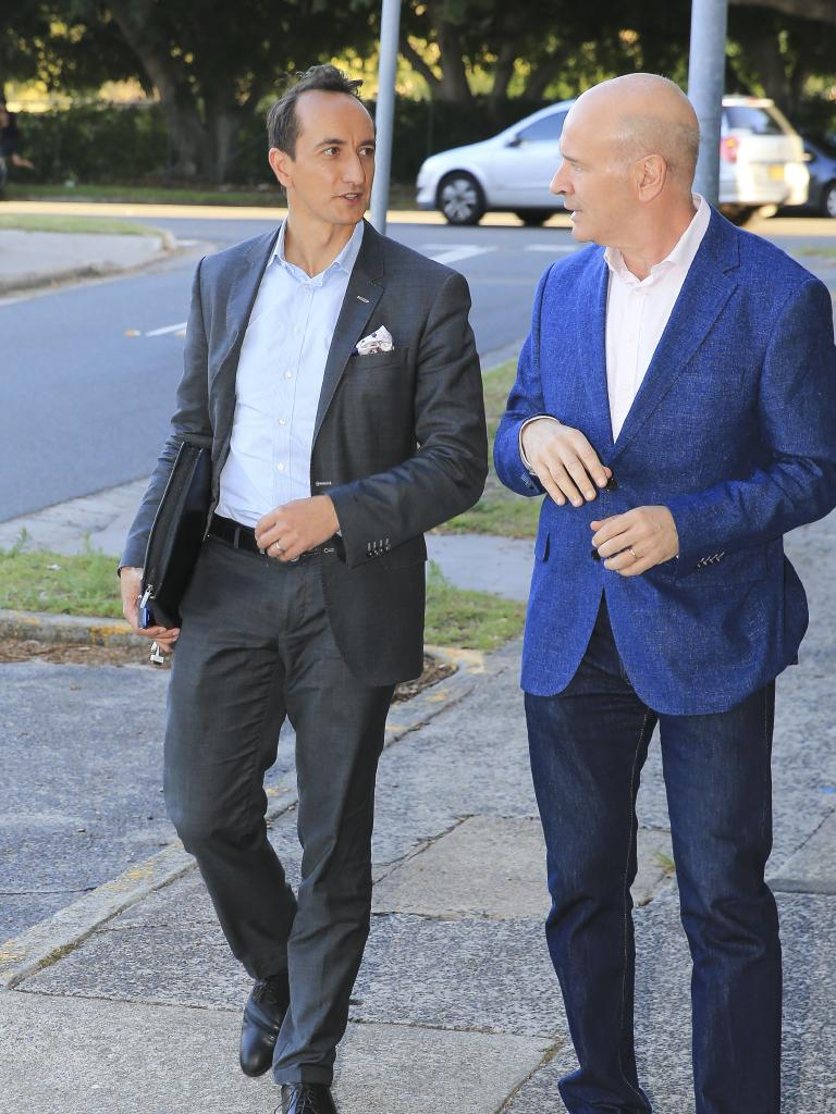 Wentworth hopeful Dave Sharma arrives at the party. Picture: Dylan Robinson